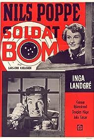Gunnar Björnstrand, Julia Cæsar, Douglas Håge, Lars-Eric Kjellgren, Inga Landgré, and Nils Poppe in Soldat Bom (1948)