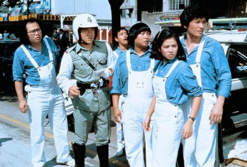 Jackie Chan, Sammo Kam-Bo Hung, Charlie Chin, Cherie Chung, Richard Ng, and John Sham in Qi mou miao ji: Wu fu xing (1983)