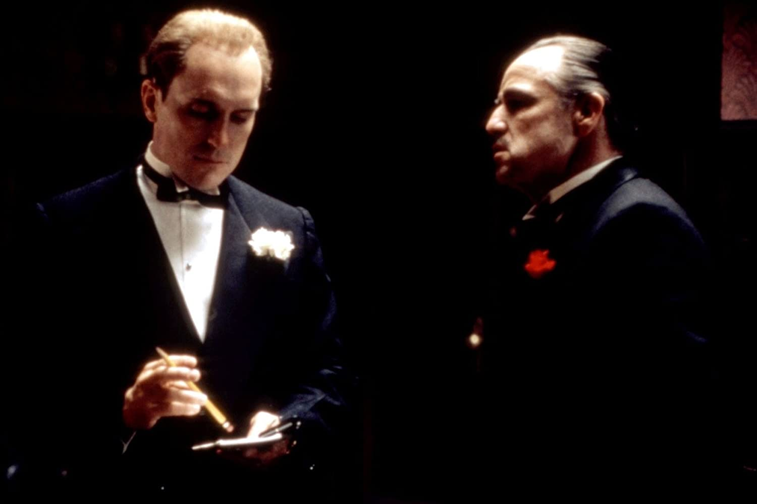 Marlon Brando and Robert Duvall in The Godfather (1972)