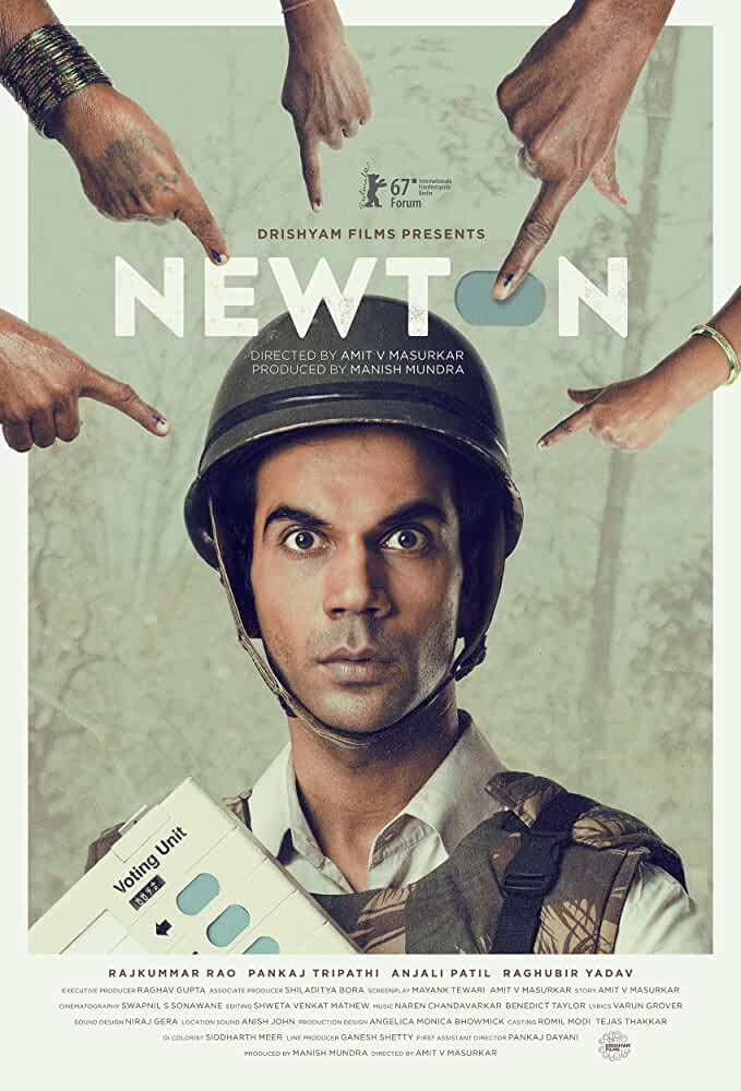 Download Newton (2017) Hindi Full Movie 480p [400MB] | 720p [950MB]