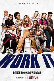 Indiana Mehta, Michelle Buteau, Keiynan Lonsdale, Jordan Fisher, Sabrina Carpenter, Drew Ray Tanner, and Liza Koshy in Work It (2020)