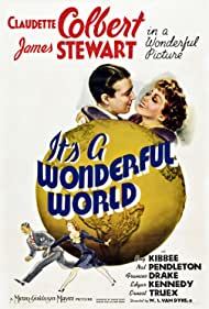 James Stewart and Claudette Colbert in It's a Wonderful World (1939)