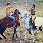 Stephen Boyd and Omar Sharif in Genghis Khan (1965)
