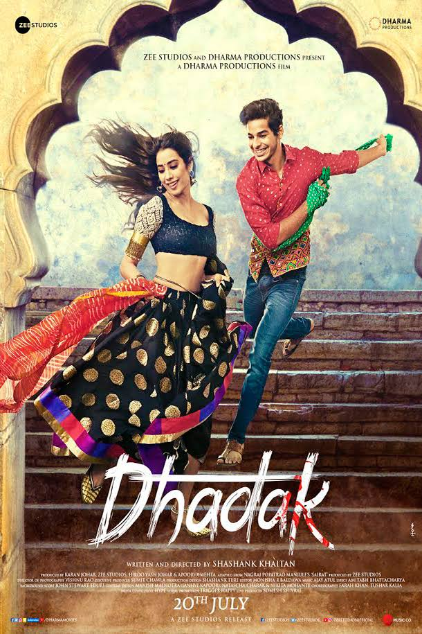 Dhadak (2018) Hindi 720p Blu-Ray x265 AAC 900MB