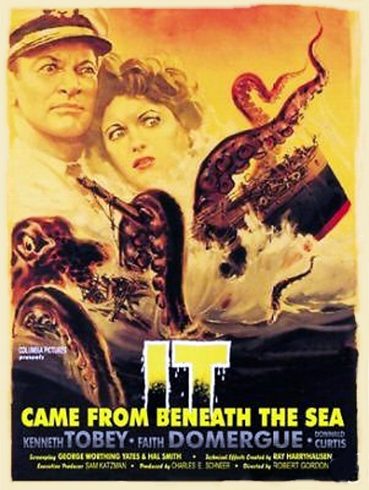 Faith Domergue and Kenneth Tobey in It Came from Beneath the Sea (1955)