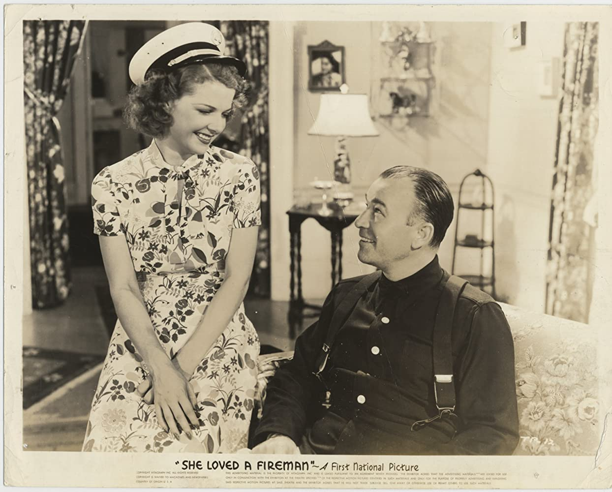 Robert Armstrong and Ann Sheridan in She Loved a Fireman (1937)