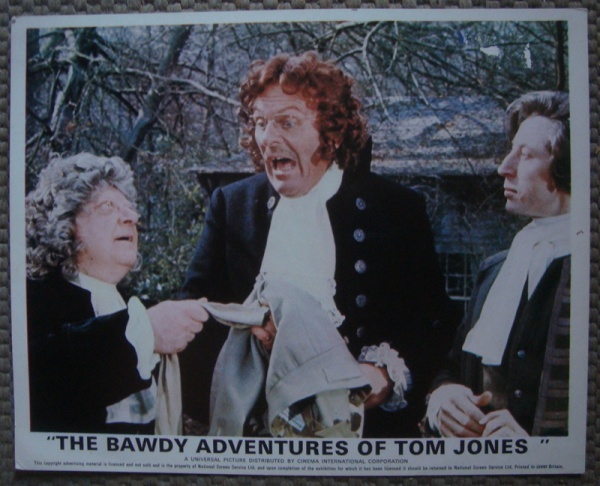 Arthur Lowe, Murray Melvin, and Terry-Thomas in The Bawdy Adventures of Tom Jones (1976)