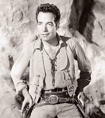 Gerald Mohr in The Buckskin Lady (1957)