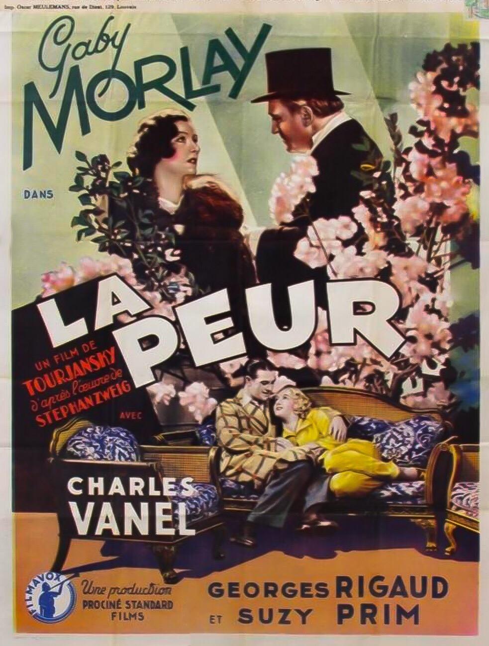 La peur (1936)