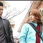 Satoshi Matsuda and Takamasa Suga in Kamen raidâ Ryûki (2002)
