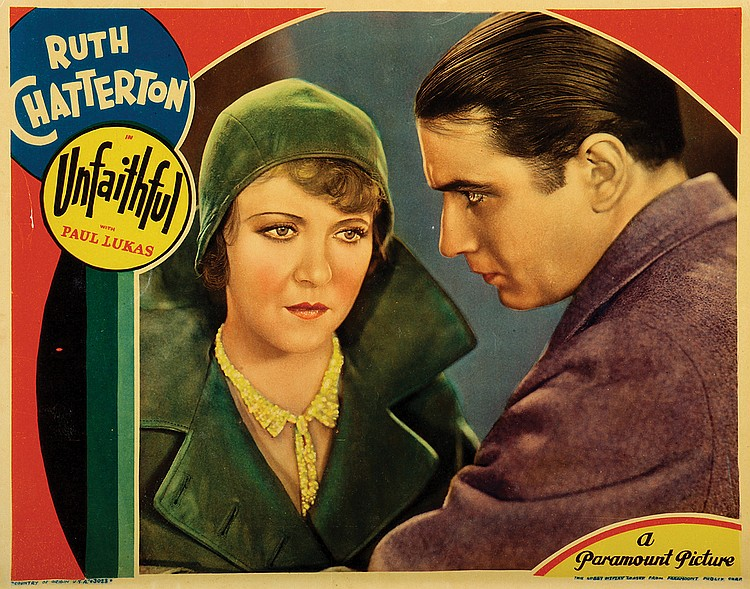 Donald Cook and Ruth Chatterton in Unfaithful (1931)
