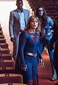 David Harewood, Chyler Leigh, Mehcad Brooks, Melissa Benoist, and Nicole Maines in Supergirl (2015)