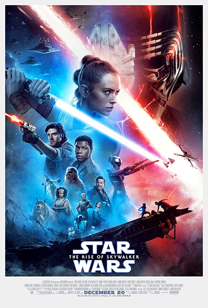 Anthony Daniels, Carrie Fisher, Billy Dee Williams, Keri Russell, Oscar Isaac, Jimmy Vee, Adam Driver, John Boyega, Kelly Marie Tran, Daisy Ridley, and Naomi Ackie in Star Wars: Episode IX - The Rise of Skywalker (2019)