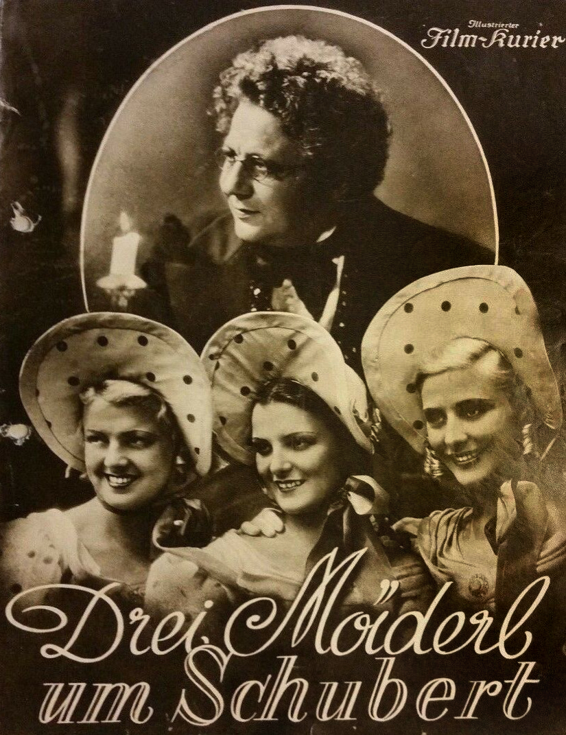 Maria Andergast, Else Elster, Paul Hörbiger, and Gretl Theimer in Drei Mäderl um Schubert (1936)