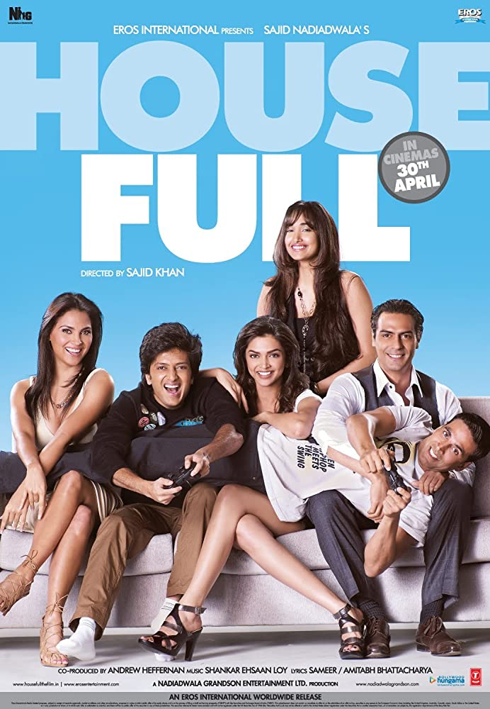 Housefull 2010 Hindi Movie 450MB BluRay ESubs Download