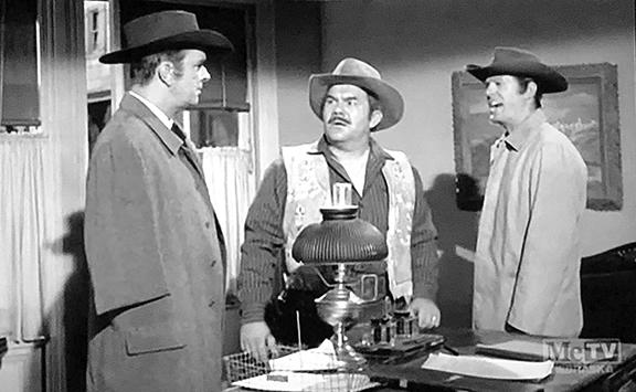 Robert Culp, Ian MacDonald, and Dick Wessel in Trackdown (1957)