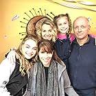 On set of Sno Babies with Ken Arnold, Katie Kelly, Bridget Smith, Abbey Hafer