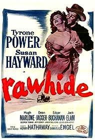 Tyrone Power and Susan Hayward in Rawhide (1951)