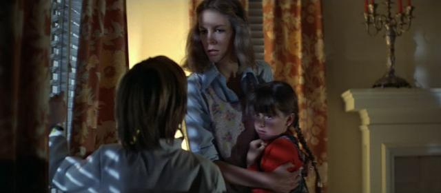 Jamie Lee Curtis, Brian Andrews, and Kyle Richards in Halloween (1978)