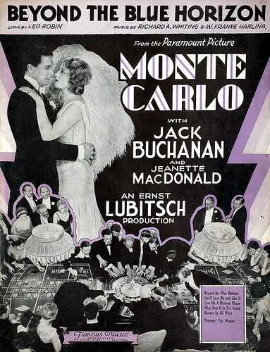 Claud Allister, Lionel Belmore, Jack Buchanan, Jeanette MacDonald, and Donald Novis in Monte Carlo (1930)