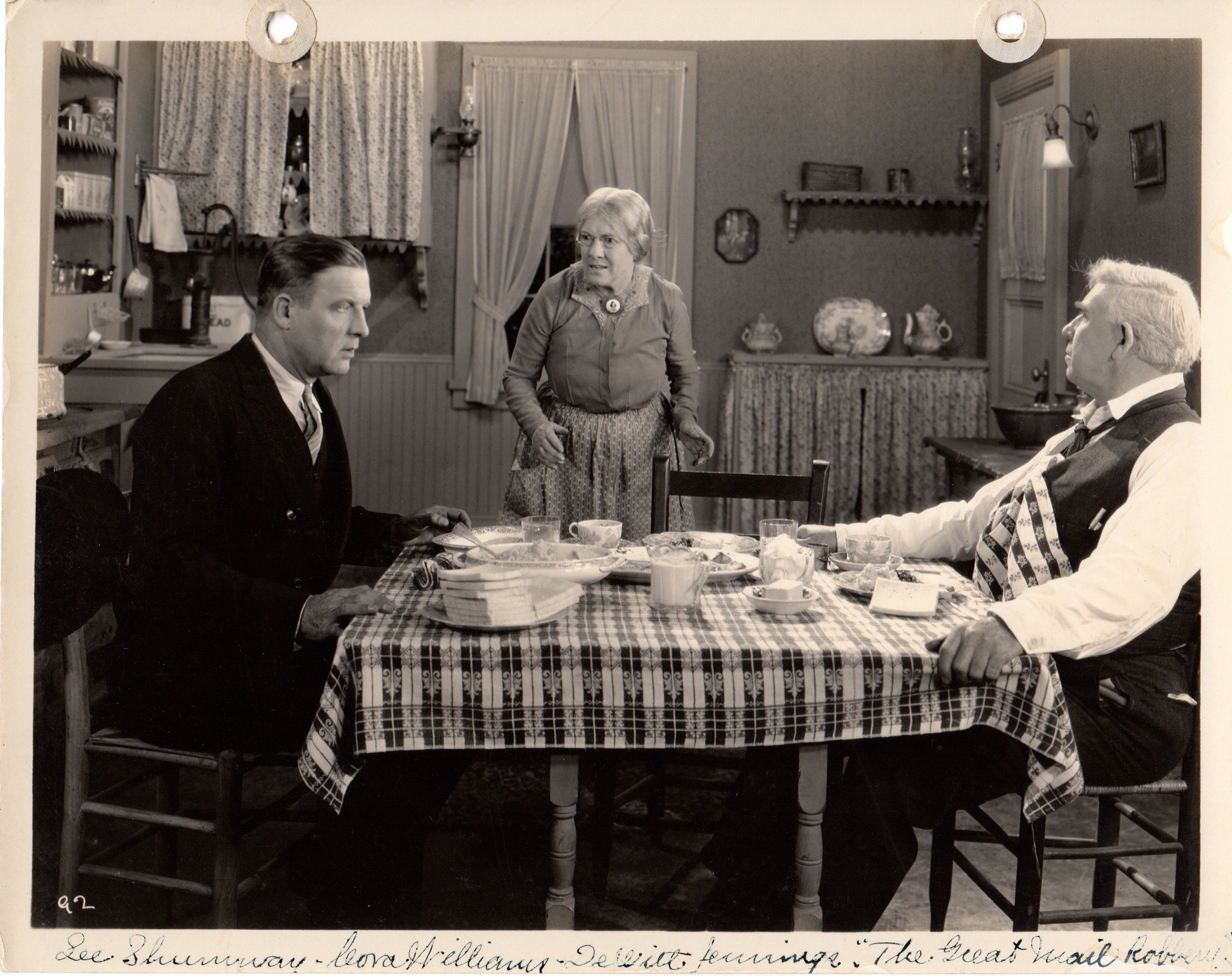 DeWitt Jennings, Lee Shumway, and Cora Williams in The Great Mail Robbery (1927)