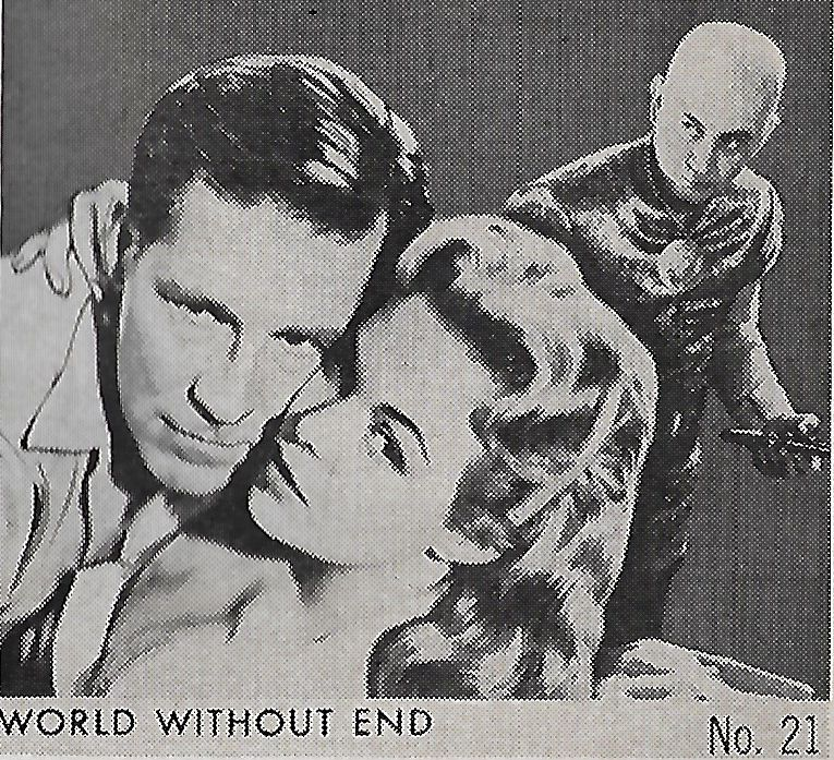 Nancy Gates and Hugh Marlowe in World Without End (1956)
