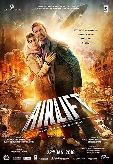 Airlift (2016) Hindi Blu-Ray - 480P | 720P - x264 - 350MB | 1.1GB - Download & Watch Online  Movie Poster - mlsbd