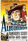Randolph Scott, Barbara Britton, and George 'Gabby' Hayes in Albuquerque (1948)
