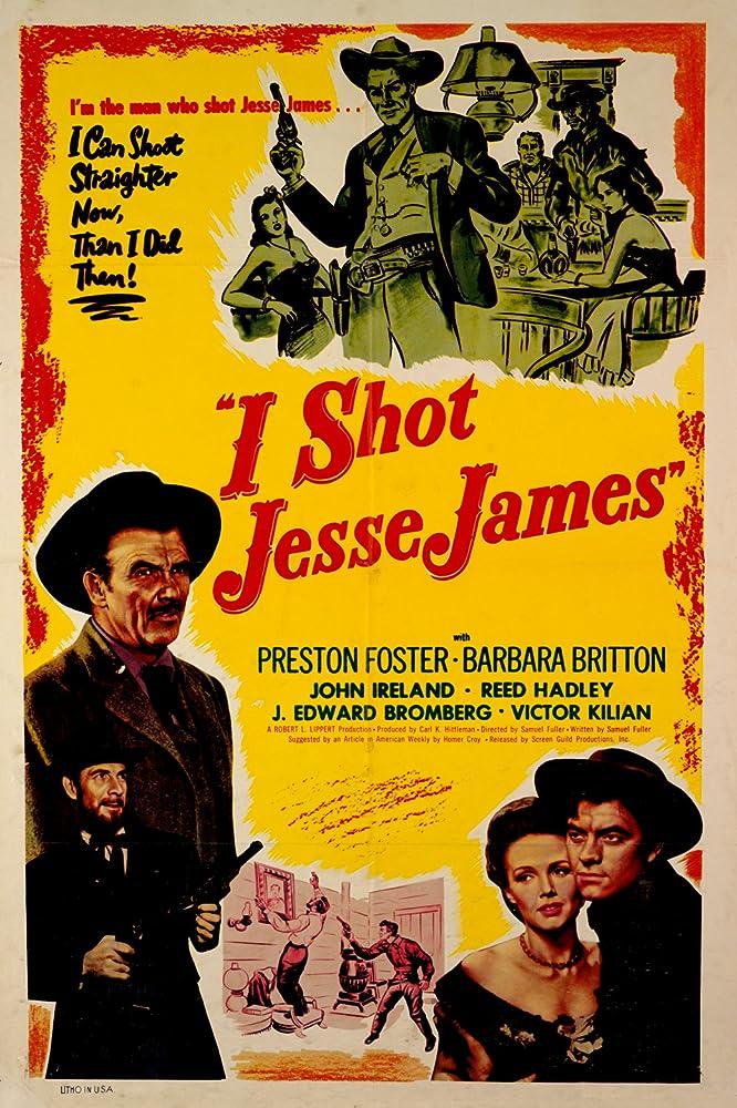 Barbara Britton, Preston Foster, Reed Hadley, and John Ireland in I Shot Jesse James (1949)