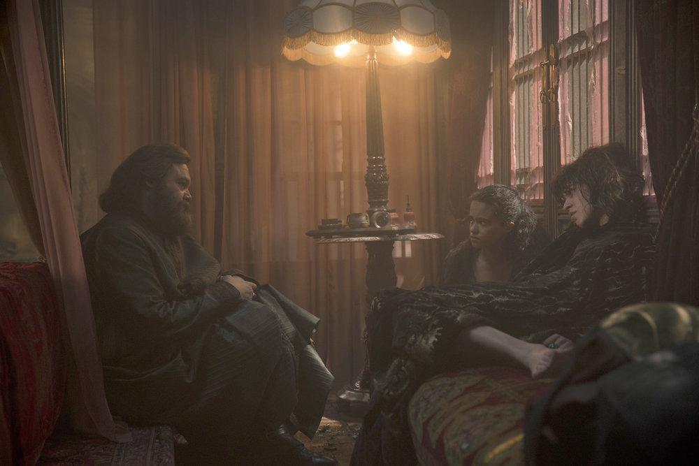 Vincent D'Onofrio, Ana Ularu, and Jordan Loughran in Emerald City (2016)
