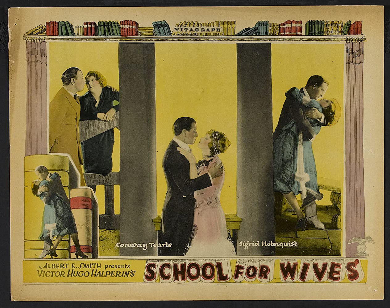 Emily Chichester, Sigrid Holmquist, Peggy Kelly, Alyce Mills, and Conway Tearle in School for Wives (1925)