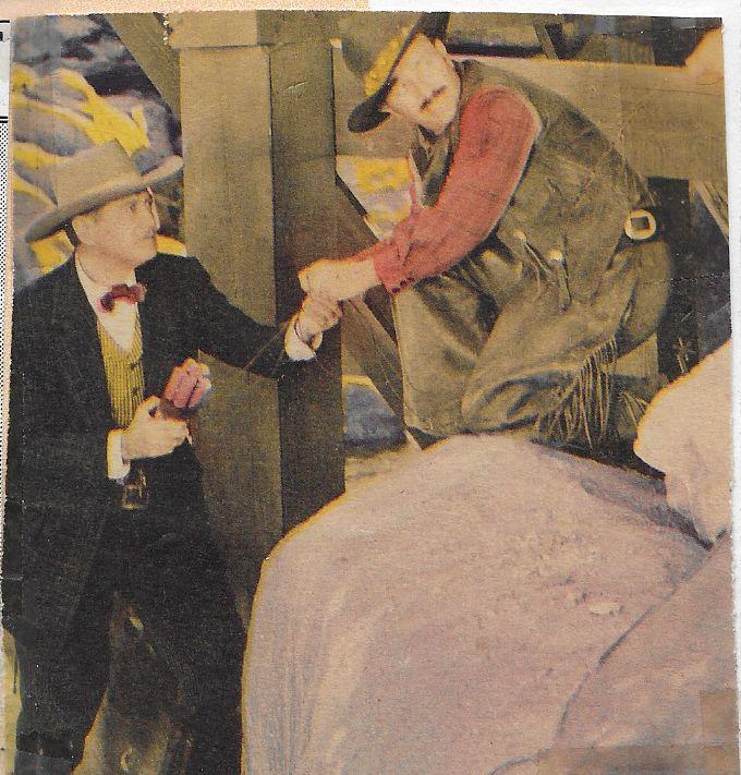 Robert Armstrong and Richard Dix in The Kansan (1943)