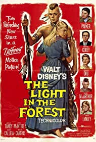Wendell Corey, Joanne Dru, Carol Lynley, James MacArthur, and Fess Parker in The Light in the Forest (1958)