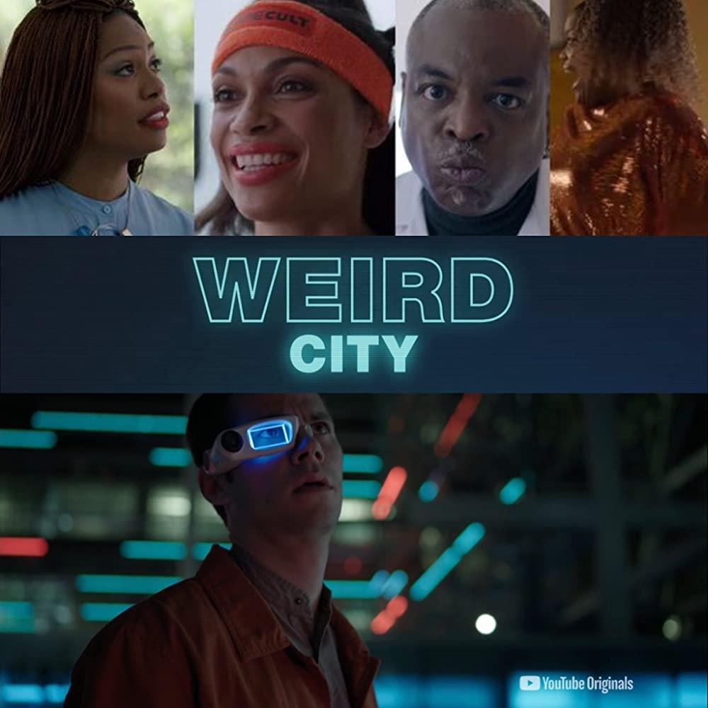LeVar Burton, Shaughn Buchholz, Rosario Dawson, and Krystina Bailey in Weird City (2019)
