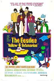 Paul McCartney, John Lennon, Paul Angelis, Peter Batten, John Clive, Dick Emery, George Harrison, Geoffrey Hughes, Ringo Starr, and The Beatles in Yellow Submarine (1968)