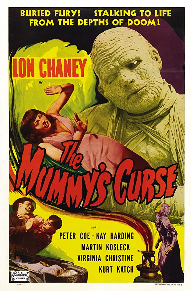 Lon Chaney Jr., Virginia Christine, Peter Coe, and Dennis Moore in The Mummy's Curse (1944)