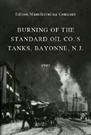 Burning of the Standard Oil Co.'s Tanks, Bayonne, N.J. Poster