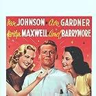 Ava Gardner, Van Johnson, and Marilyn Maxwell in 3 Men in White (1944)