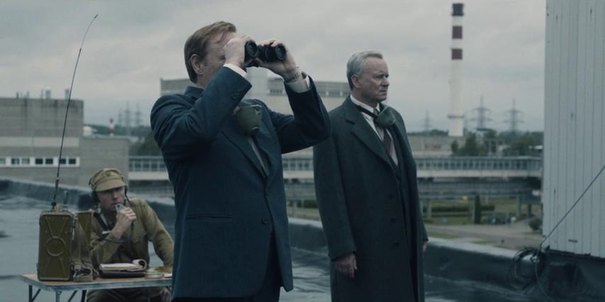 Stellan Skarsgård and Jared Harris in Chernobyl (2019)