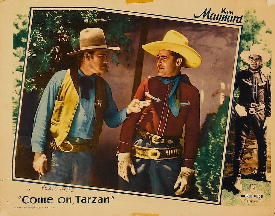 Ken Maynard and Jack Rockwell in Come On, Tarzan (1932)