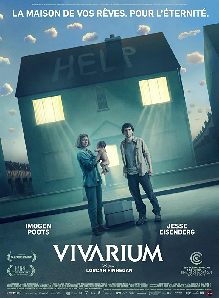 Jesse Eisenberg and Imogen Poots in Vivarium (2019) Titles: Vivarium People: Jesse Eisenberg, Imogen Poots Countries: France Languages: French
