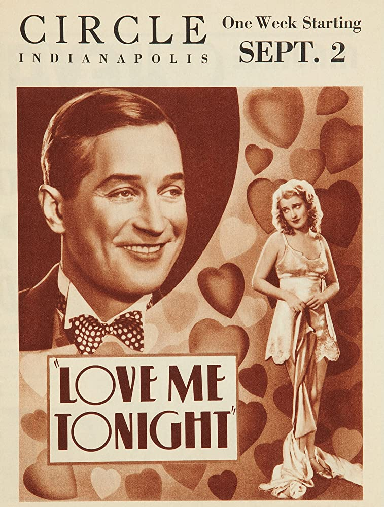 Maurice Chevalier and Jeanette MacDonald in Love Me Tonight (1932)