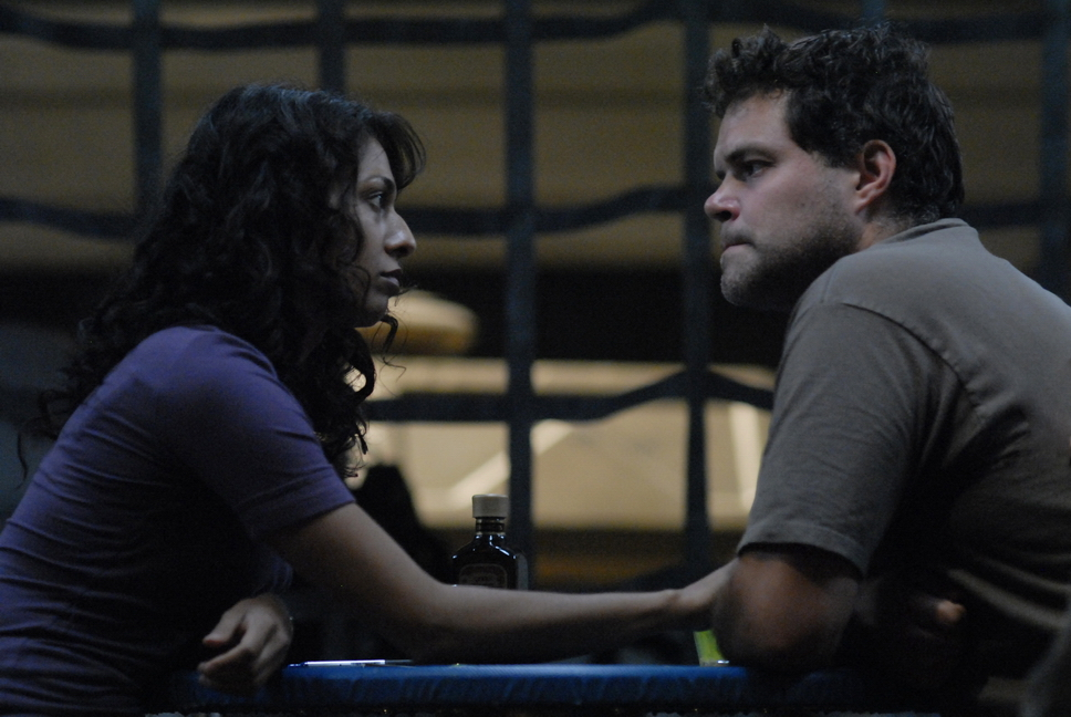 Aaron Douglas and Rekha Sharma in Battlestar Galactica (2004)