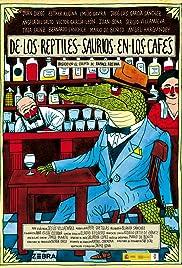 De los reptiles-saurios en los cafés Poster
