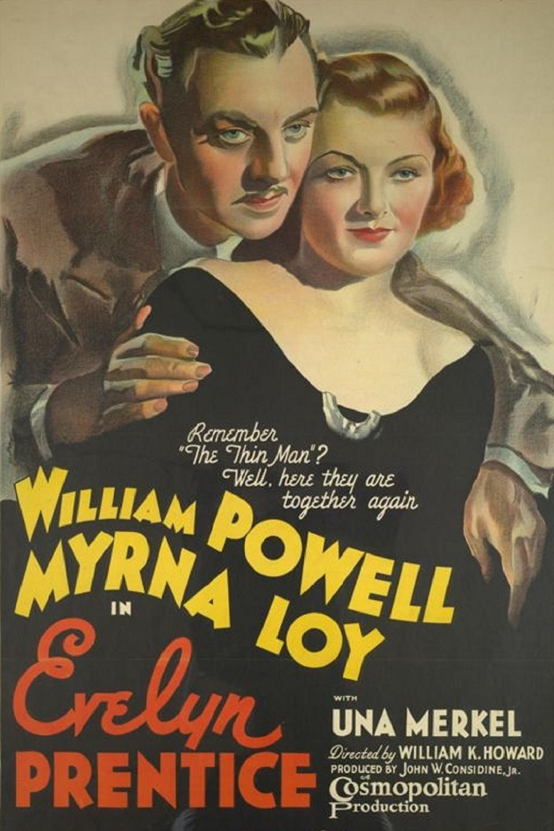 Myrna Loy and William Powell in Evelyn Prentice (1934)