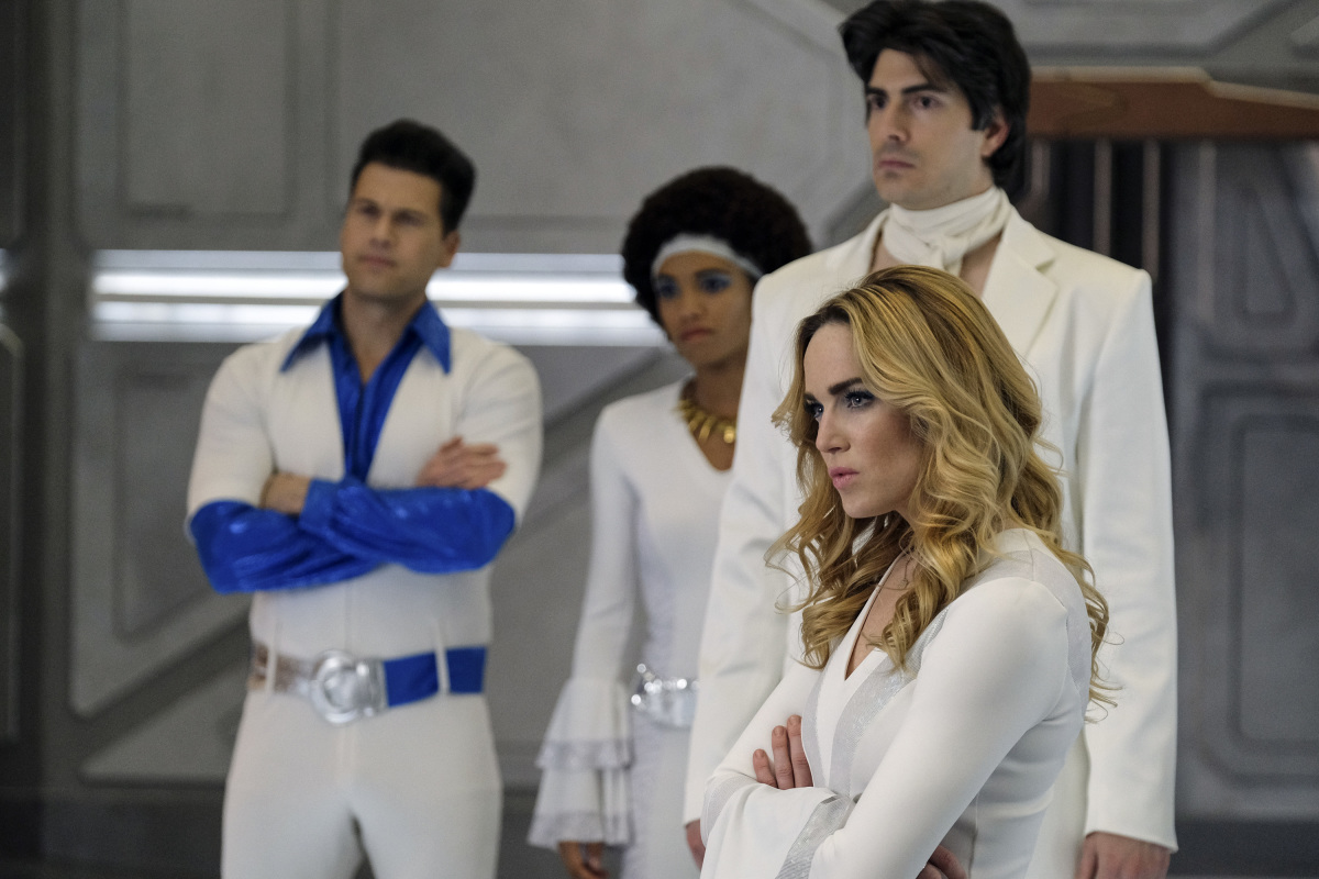 Brandon Routh, Nick Zano, Caity Lotz, and Maisie Richardson-Sellers in Legends of Tomorrow (2016)