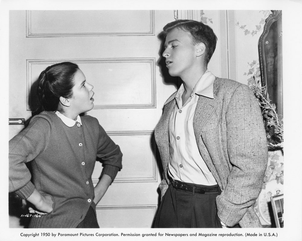 Arlene McQuade and Larry Robinson in The Goldbergs (1949)