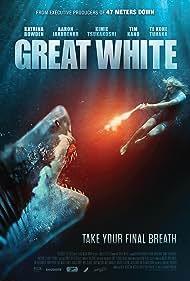 Katrina Bowden, Te Kohe Tuhaka, Tim Kano, Aaron Jakubenko, and Kimie Tsukakoshi in Great White (2021)
