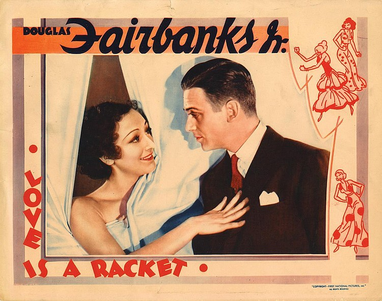 Douglas Fairbanks Jr. and Ann Dvorak in Love Is a Racket (1932)