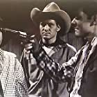 Smiley Burnette, Don C. Harvey, and Chuck Roberson in Trail of the Rustlers (1950)